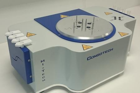 The Congotech is sized to be installed on a laboratory bench.